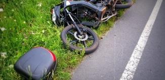 Wypadek motocyklisty wracającego ze zlotu w Wolsztynie